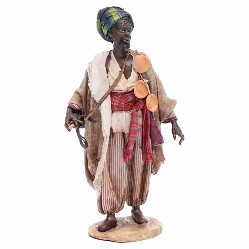 Black man with wineskin 18cm Angela Tripi s1