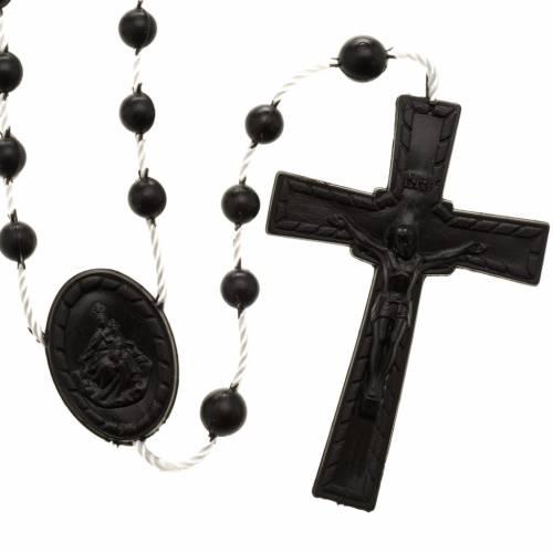 Black nylon rosary s1