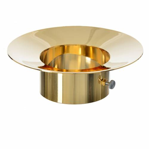 Bobèche protège coulures en laiton pour cierge pascal diam. 8 cm s2