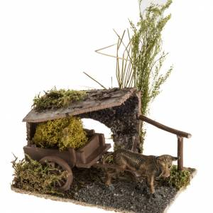 Boeuf avec chariot de lichens milieu crèche s1