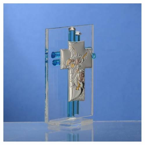 Bomboniera Battesimo Angelo vetro Murano acqua h. 8 cm s3