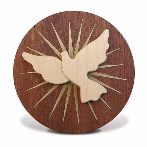 Bomboniera Azur tondo legno Spirito Santo 1