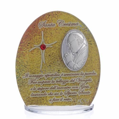 Bonbonnière Confirmation Pape François 8,5 cm s1