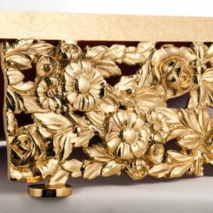 Book stand made of gold-plated cast brass s3