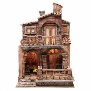 Capanne Presepe e Grotte: Borgo con capanna presepe con accessori 40x30x20 cm