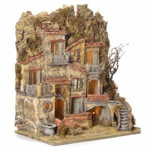 Borgo presepe napoletano con fontana elettrica 45X50X30 s2