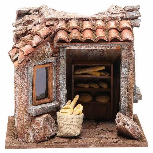 Bottega del panettiere per presepe cm 10 s1
