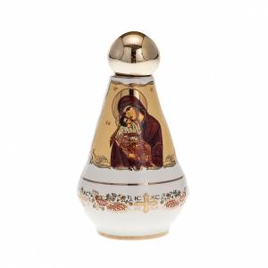 Bottiglietta acqua santa ceramica Madonna s1