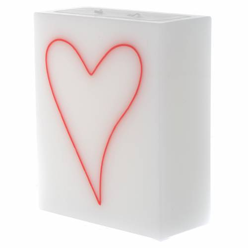 Bougie rectangle Coeur s2