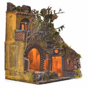 Bourg en miniature crèche Napolitaine style classique cascade s2