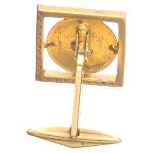 Boutons de manchette religieux: Boutons manchettes en argent 800 doré ange Raphaël 1,7x1,7 cm