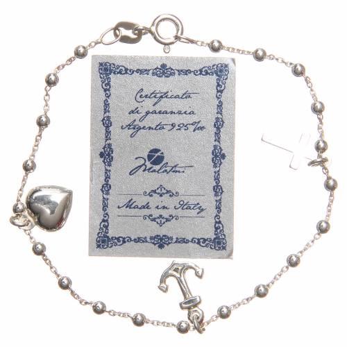 Braccialetto argento 925 croce cuore ancora 3 mm s2