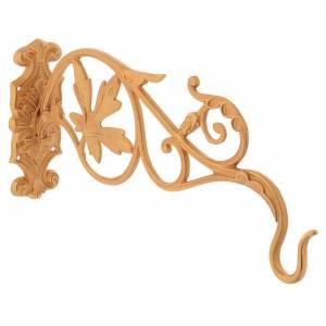 Braccio dorato con foglie per lampada Santissimo a catena s3
