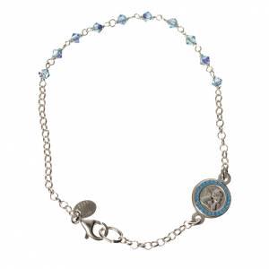 Bracelet argent 800 Swarovski bleus Ange Gardien s1