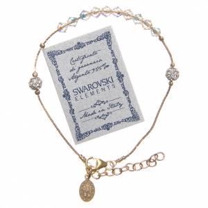 Bracelet argent 925 doré et Swarovski grains cristal s2