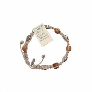 Bracelet bois d'olivier et croix Saint Benoît s2