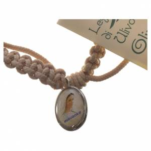 Bracelet corde Medjugorje croix olivier différents coloris s3