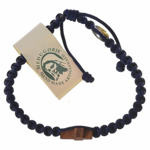 Bracelet corde Medjugorje croix olivier s5