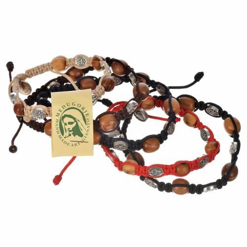Bracelet dizainier bois olivier médaille Miraculeuse s1