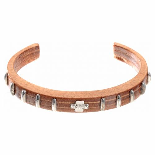 Bracelet dizainier MATER bois et argent s1