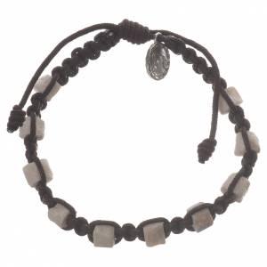 Bracelet dizainier Medjugorje marron et pierre s2