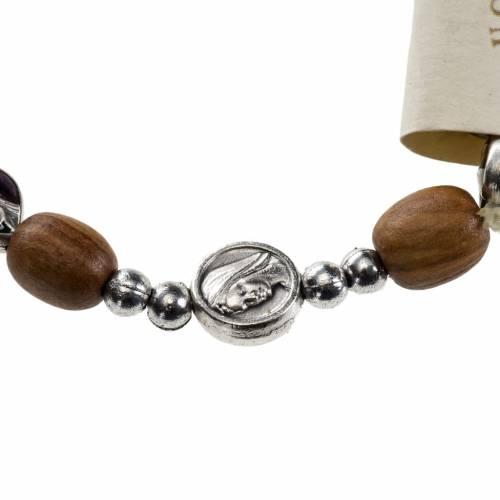 Bracelet élastique bois d'olivier Medjugorje s2