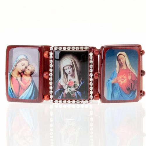 Bracelet-chapelet, images, paillettes s4