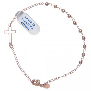 Silver bracelets: Bracelet in 925 sterling silver shiny rosè