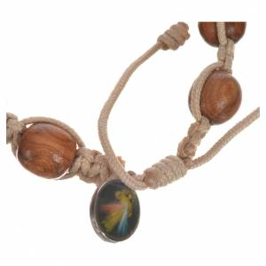 Bracelets, peace chaplets, one-decade rosaries: Bracelet in olive wood with Tau cross