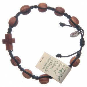 Bracelets, dizainiers: Bracelet Medjugorje olivier corde noire