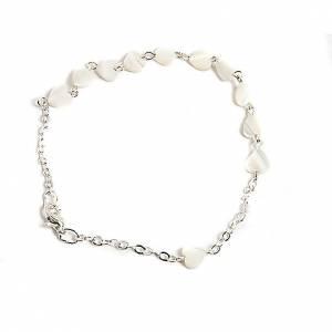 Bracelets divers: Bracelet nacre, coeur