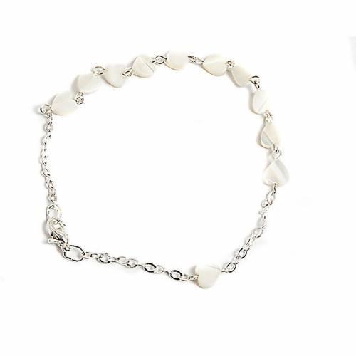 Bracelet nacre, coeur s1