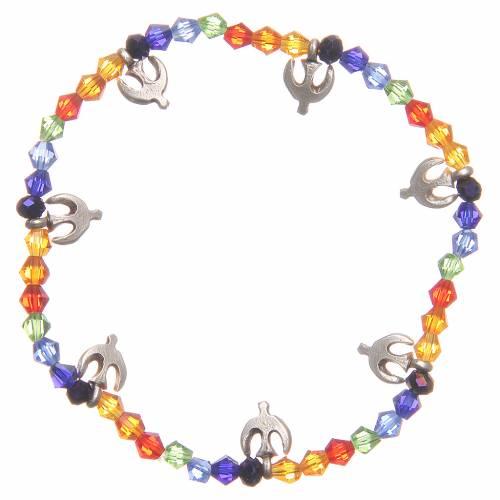 Bracelet paix perles arc-en-ciel s2