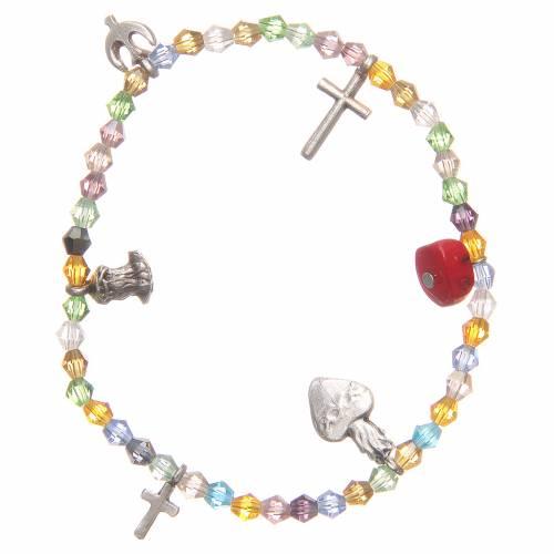 Bracelet perles multicolores Sacré-Coeur de Jésus s1