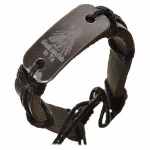 Bracelet similicuir Christ Miséricordieux s3