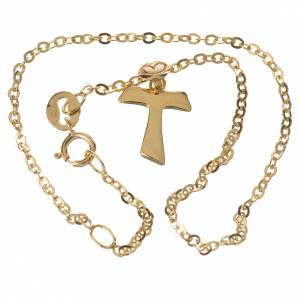 Gold and silver bracelets: Bracelet with tau pendant in 18k gold 1,09 grams