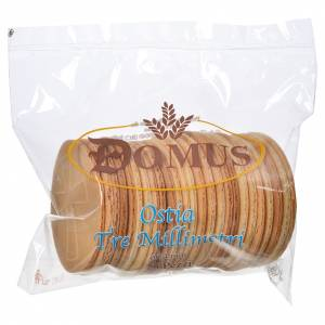 Communion bread and hosts: Bread hosts 7.4cm diameter 3mm thick (25 pieces)