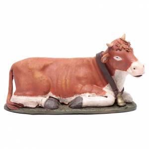 Presepe Terracotta Deruta: Bue in terracotta colorata per presepe Deruta 30 cm