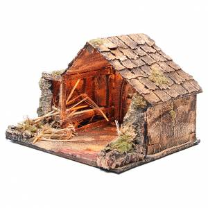 Bungalow like stable for Neapolitan Nativity 27x37x29cm s2