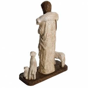 Buon Pastore 38 cm pietra Bethléem s4