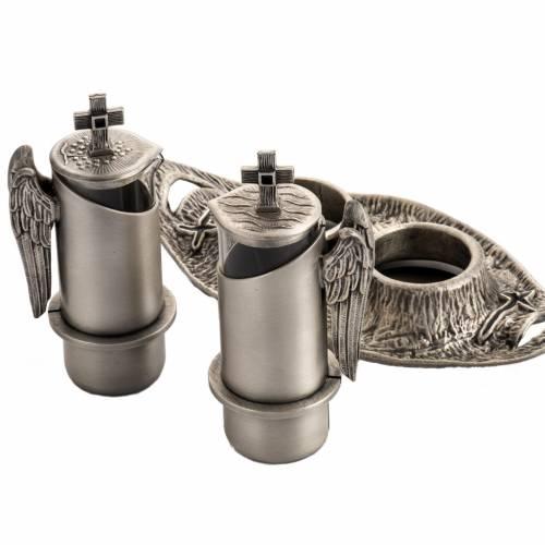 Burettes messe en bronze fondu argenté s3