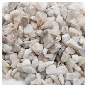 Busta ghiaia bianca 500 gr presepi fai da te s2