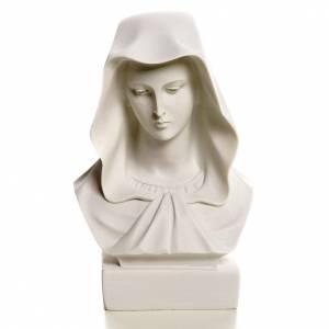 Kunstmarmor Statuen: Büste Muttergottes 12 cm, aus weissem Marmor