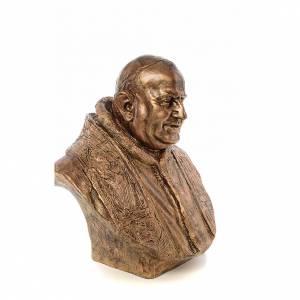 Busto Giovanni XXIII cm80 vetroresina colore bronzo Landi s4