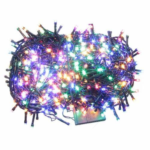 Cadena de luces de Navidad 600 LED multicolor programables para exterior s1