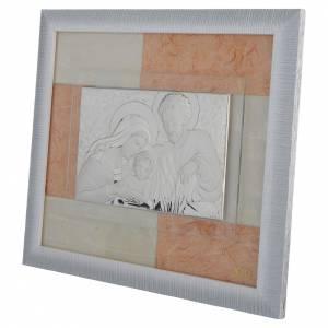 Cadre Mariage Ste Famille ivoire-brun 29x26 cm s2