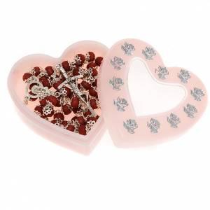 Portarosarios: Caja corazón cuentas de hasta 6 mm