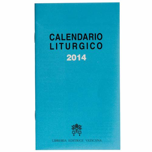 Calendario liturgico 2014 ed. Vaticana s1