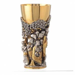 Calice mod. Cristo Africa ottone bicolore s3
