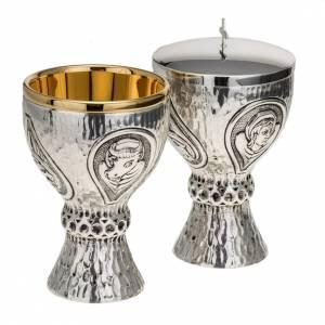Calici Pissidi Patene metallo: Calice pisside Molina ottone 4 evangelisti